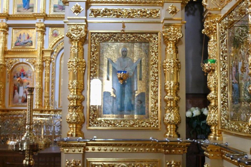 Ikone Maria Schutz und Fürbitte