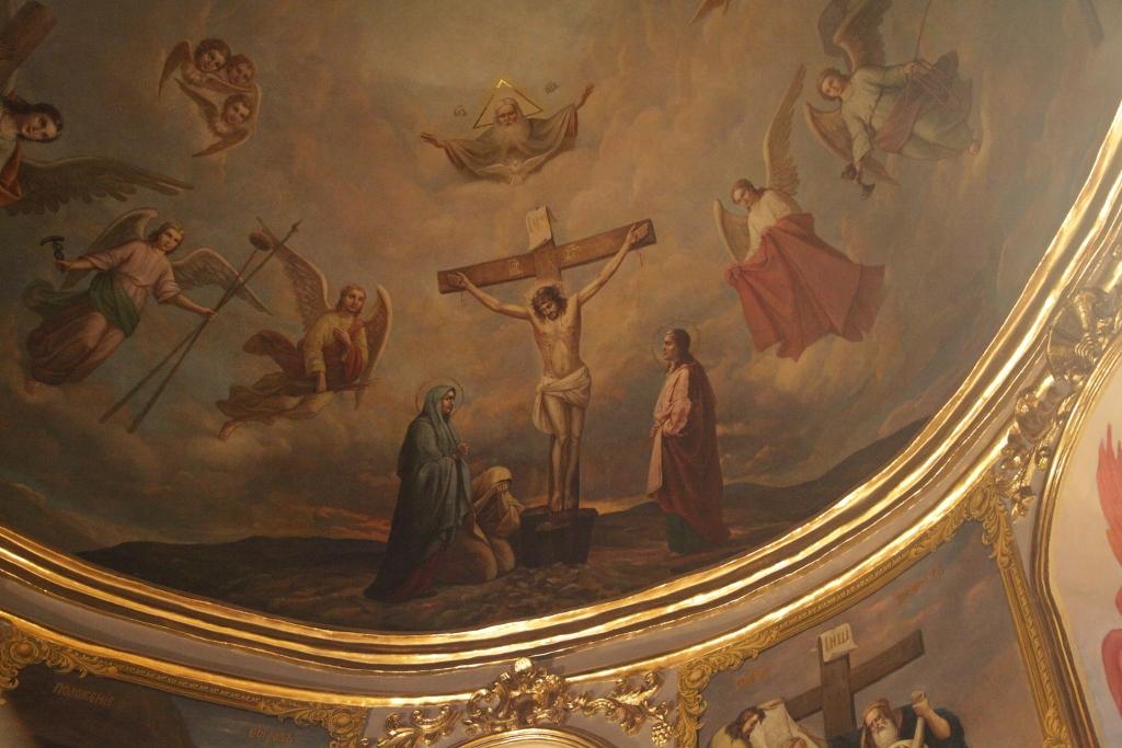Freske der Kreuzerhöhungskirche