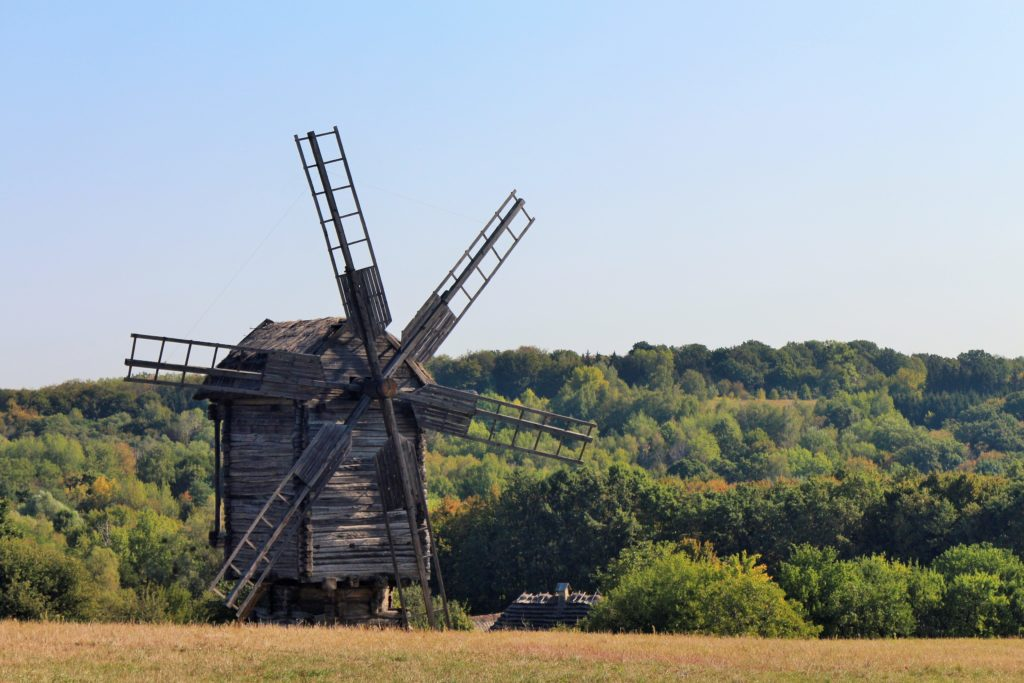 Windmühle   Freilichtmuseum Pyrohiw