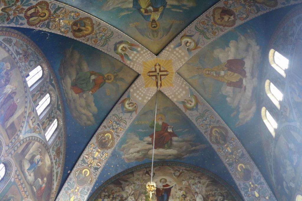 Das Gewölbe der Nikolaus-Kathedrale