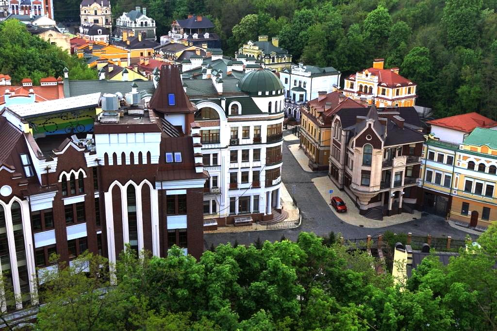 Aussichtsplattformen von Kiew - Schlossberg