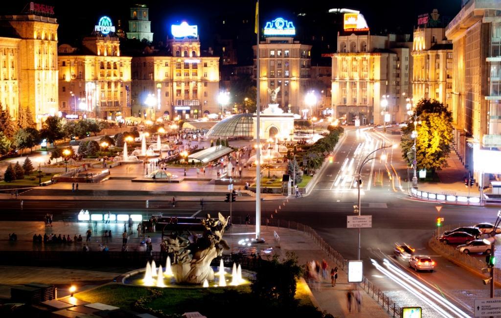 Maidan in der Nacht. © Podluzhnaya