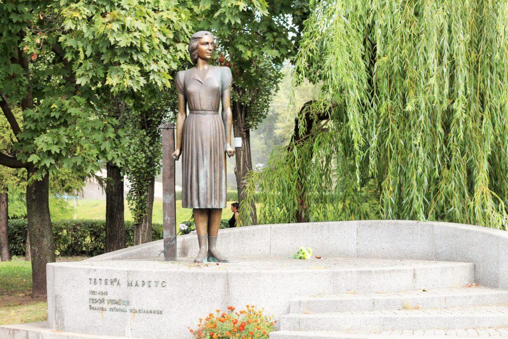 Denkmal für die Widerstandskämpferin jüdischer Herkunft Tetiana Markus