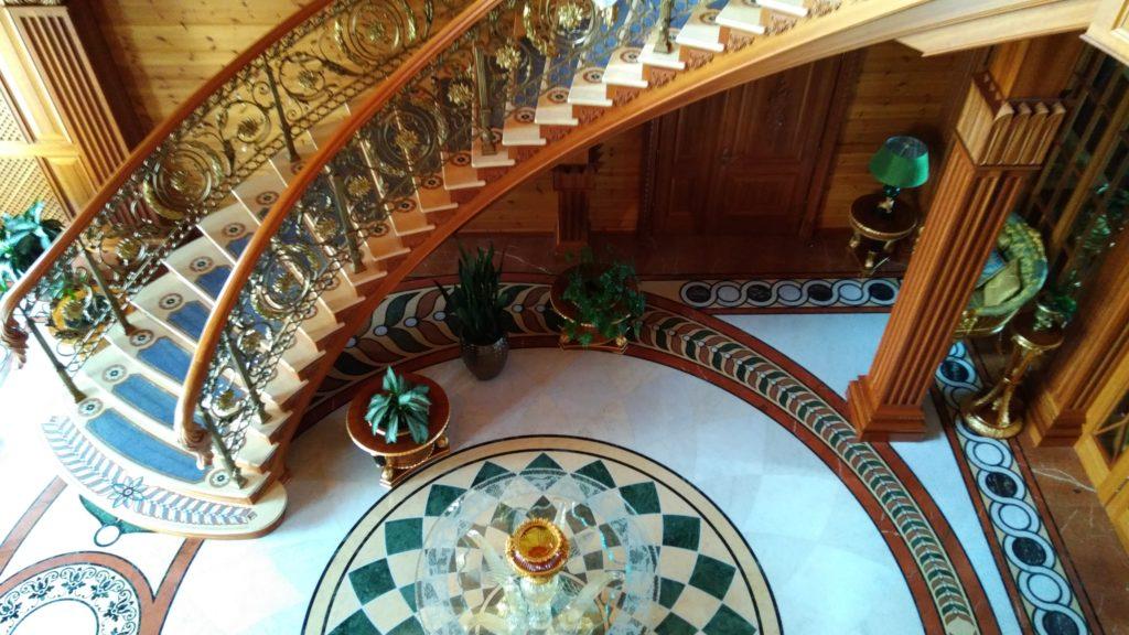 Meschyhirja - Treppe