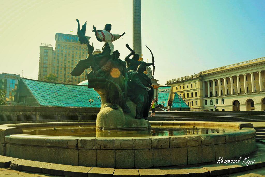 Brunnen der Stadtgründer Kiews